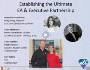 Establishing the Ultimate EA & Executive Partnership